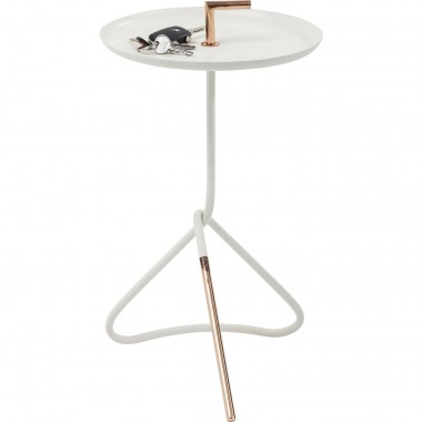 Table d'appoint Nodo blanche 30cm Kare Design