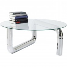 Table basse Pipeline argent Kare Design