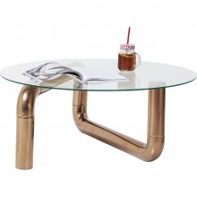Table basse Pipeline cuivre Kare Design