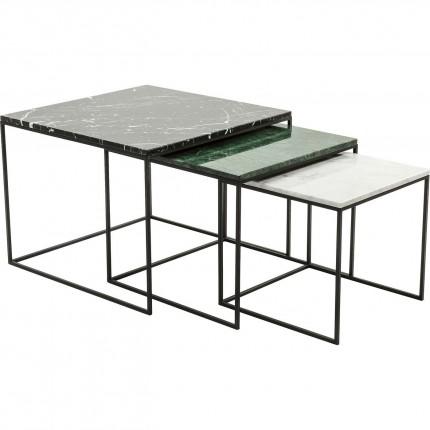 Tables d'appoint East Coast Square set de 3 Kare Design
