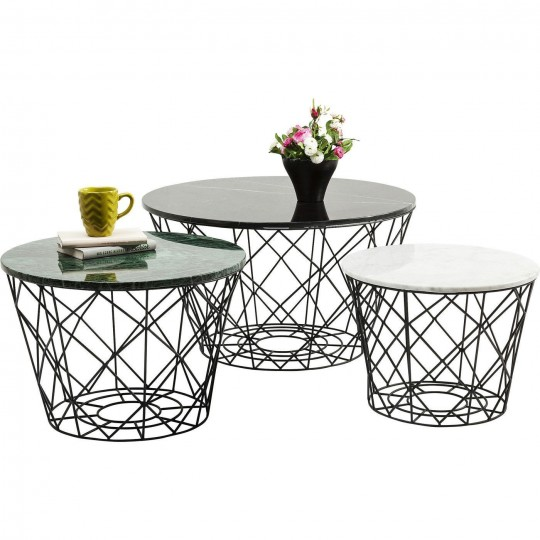Tables basses East rond 3/set Kare Design