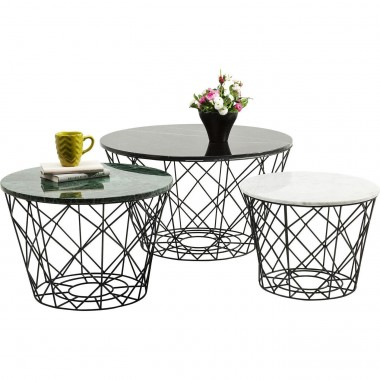 Tables basses East rond set de 3 Kare Design