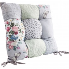 Coussin de chaise Patchwork Powder 40x40 cm