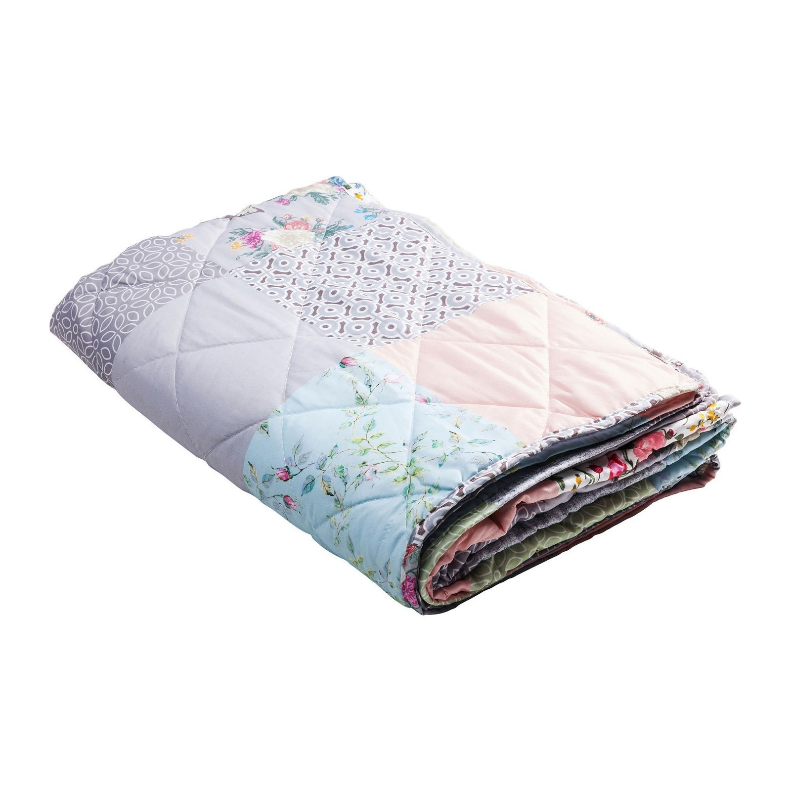 Coussin plaid en patchwork designs
