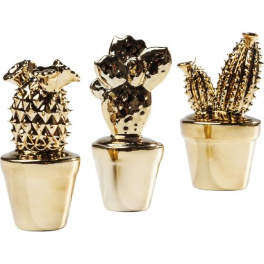 Déco Cactus Or set de 3 Kare Design