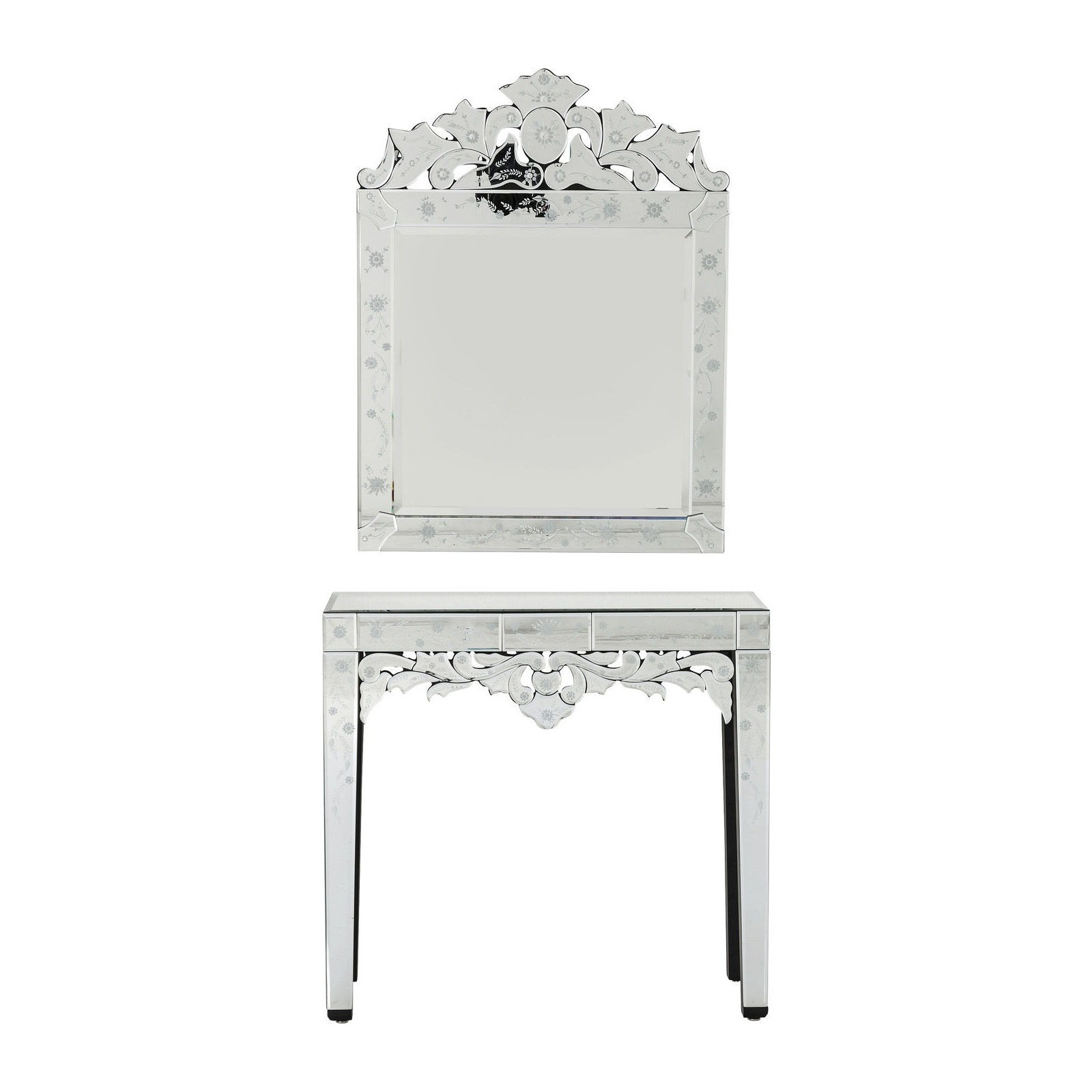 console miroir princess set de 2 kare design. Black Bedroom Furniture Sets. Home Design Ideas
