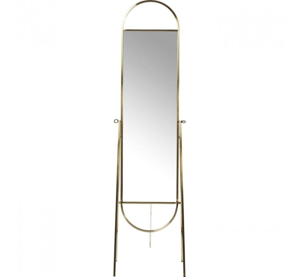 Miroir sur pied Casino laiton Kare Design