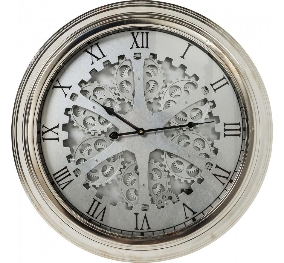 Horloge murale Gear Silver Kare Design