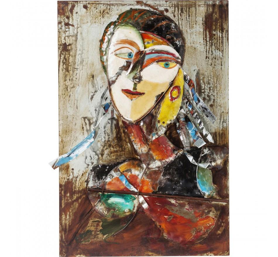 Tableau Iron Artist Face Lady 120x80cm Kare Design