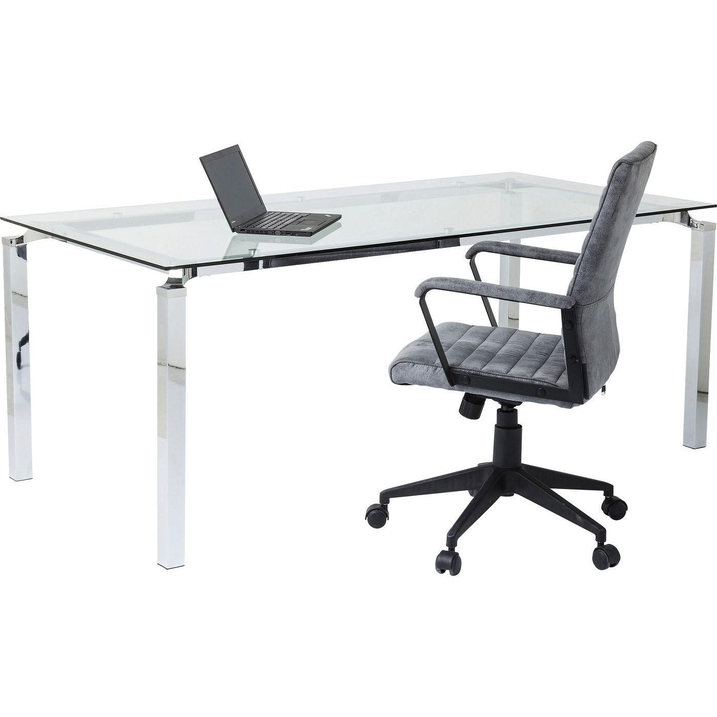 Bureau en verre Lorenco 180x90cm Kare Design