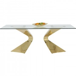 Table Gloria dorée 200x100cm Kare Design