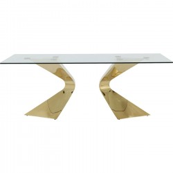 Table Gloria 200x100cm dorée Kare Design