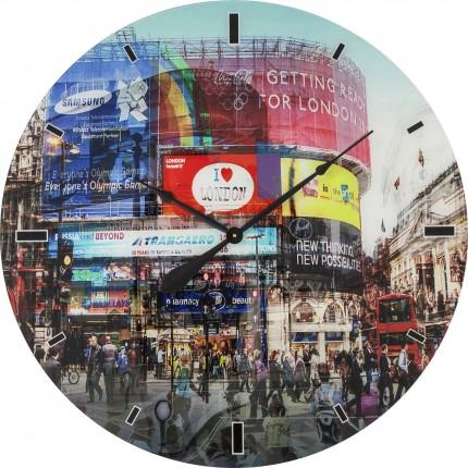 Horloge murale en verre Piccadilly Circus 80cm Kare Design