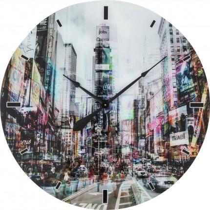 Horloge murale en verre Times Square 80cm Kare Design