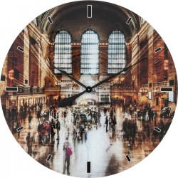 Horloge murale en verre Grand Central Station 80cm Kare Design