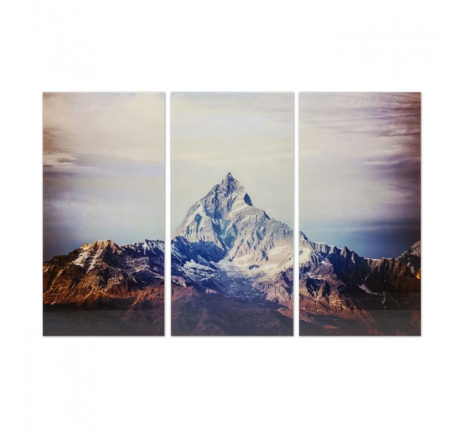 Tableau en verre Triptychon Matterhorn 160x240cm (3/set) Kare Design