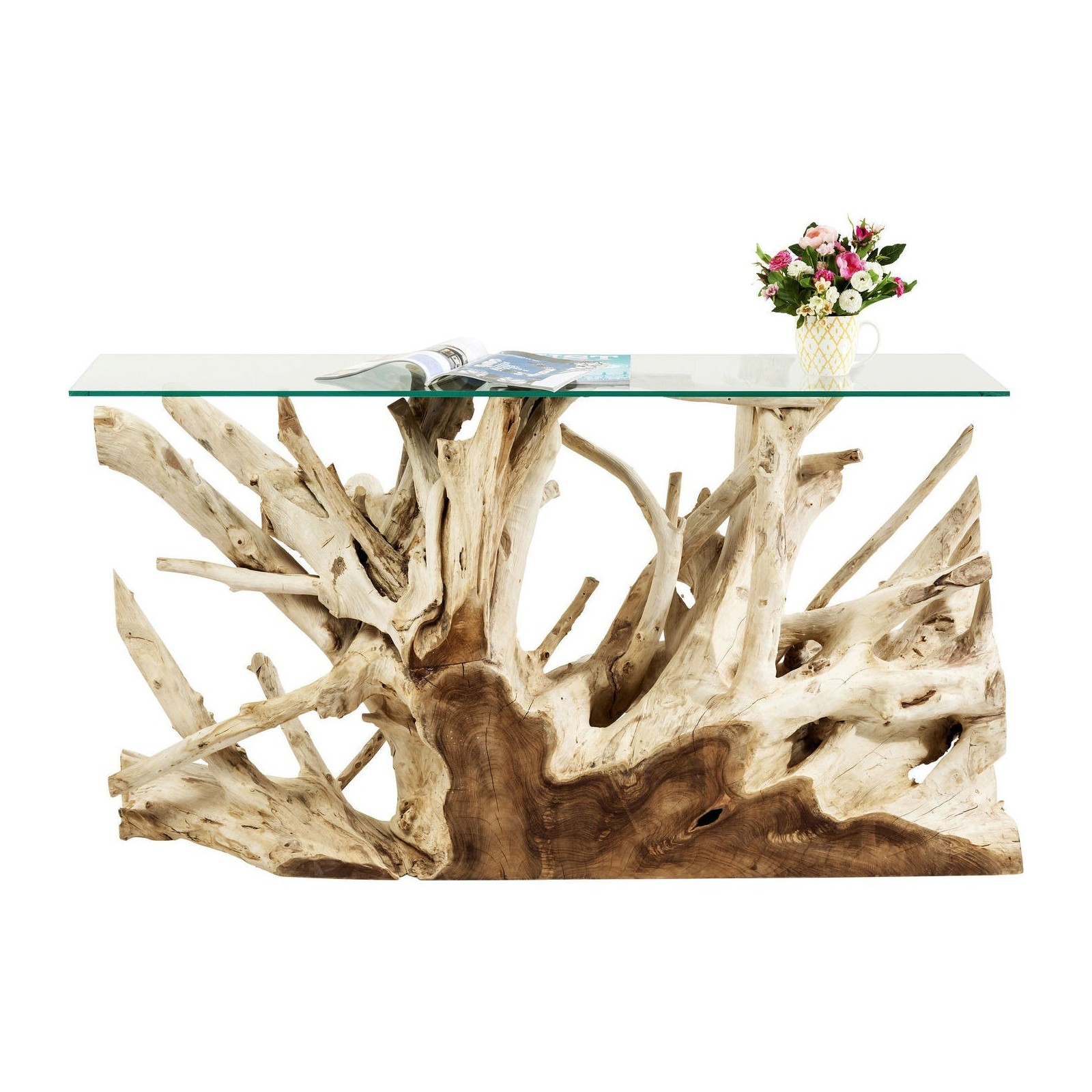 Console roots 150x75cm kare design for Meuble bois flotte chambre