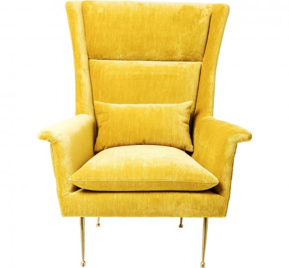 Fauteuil Vegas Forever jaune Kare Design