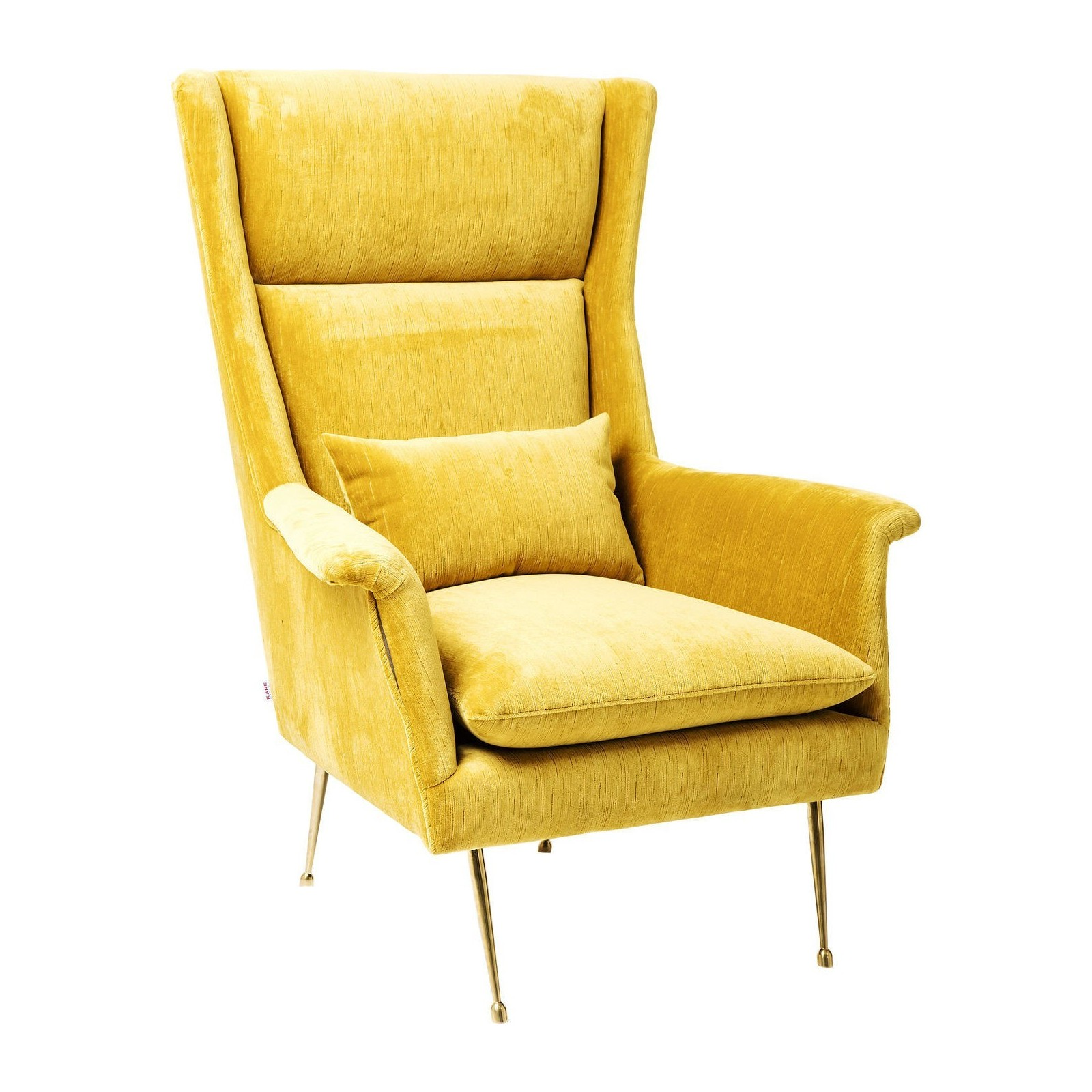 fauteuil retro jaune vegas forever kare design. Black Bedroom Furniture Sets. Home Design Ideas