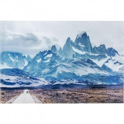 Tableau en verre Road To The Mountains 100x150cm Kare Design