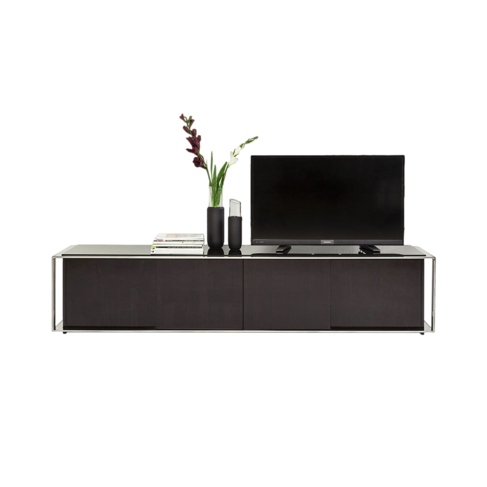 meuble tv moderne marron vanity kare design. Black Bedroom Furniture Sets. Home Design Ideas