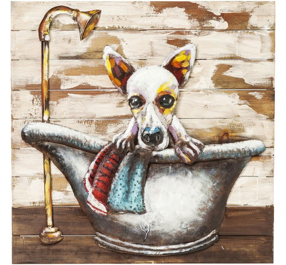 Tableau Iron Bathing Dog Kare Design