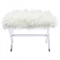 Tabouret Visible Fur blanc Kare Design