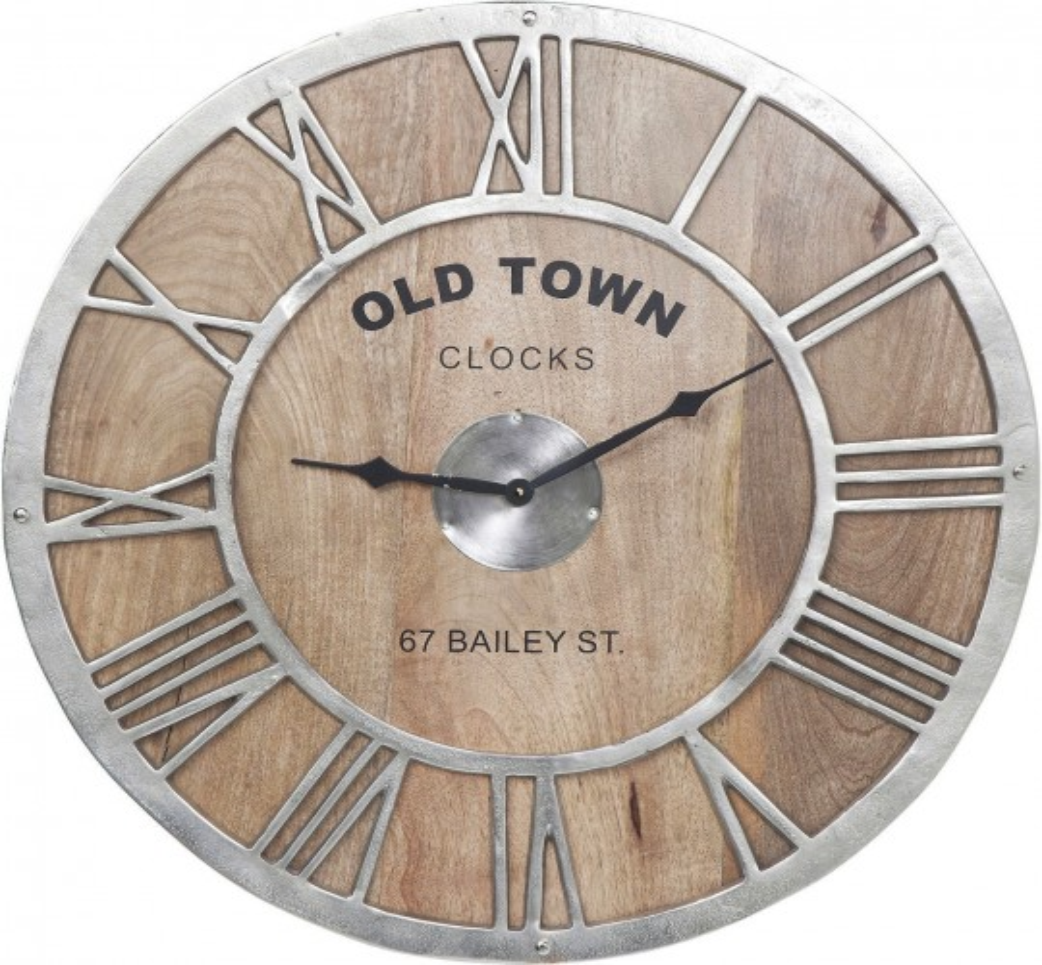 Horloge murale bois Old Town Kare Design