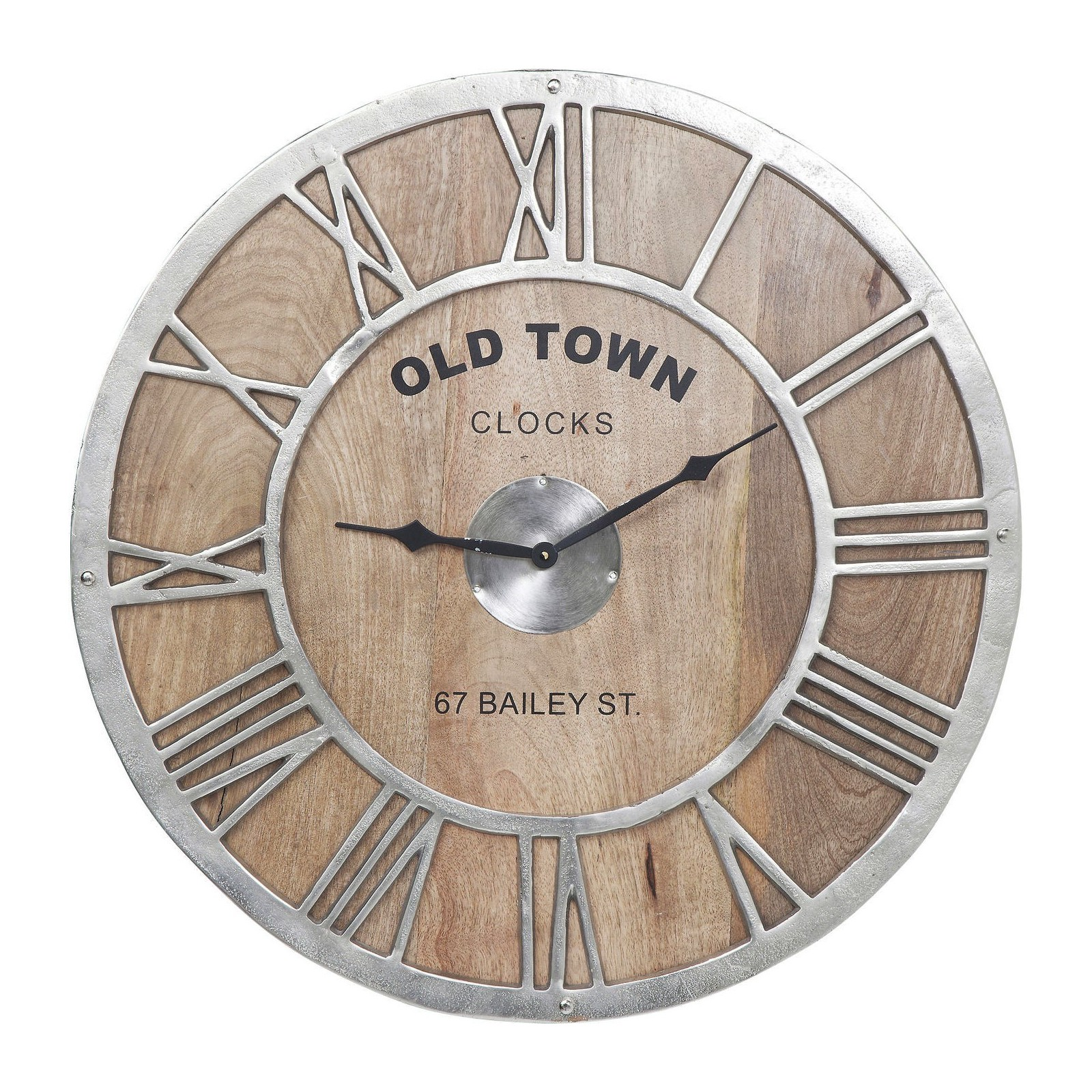 horloge murale bois old town kare design. Black Bedroom Furniture Sets. Home Design Ideas