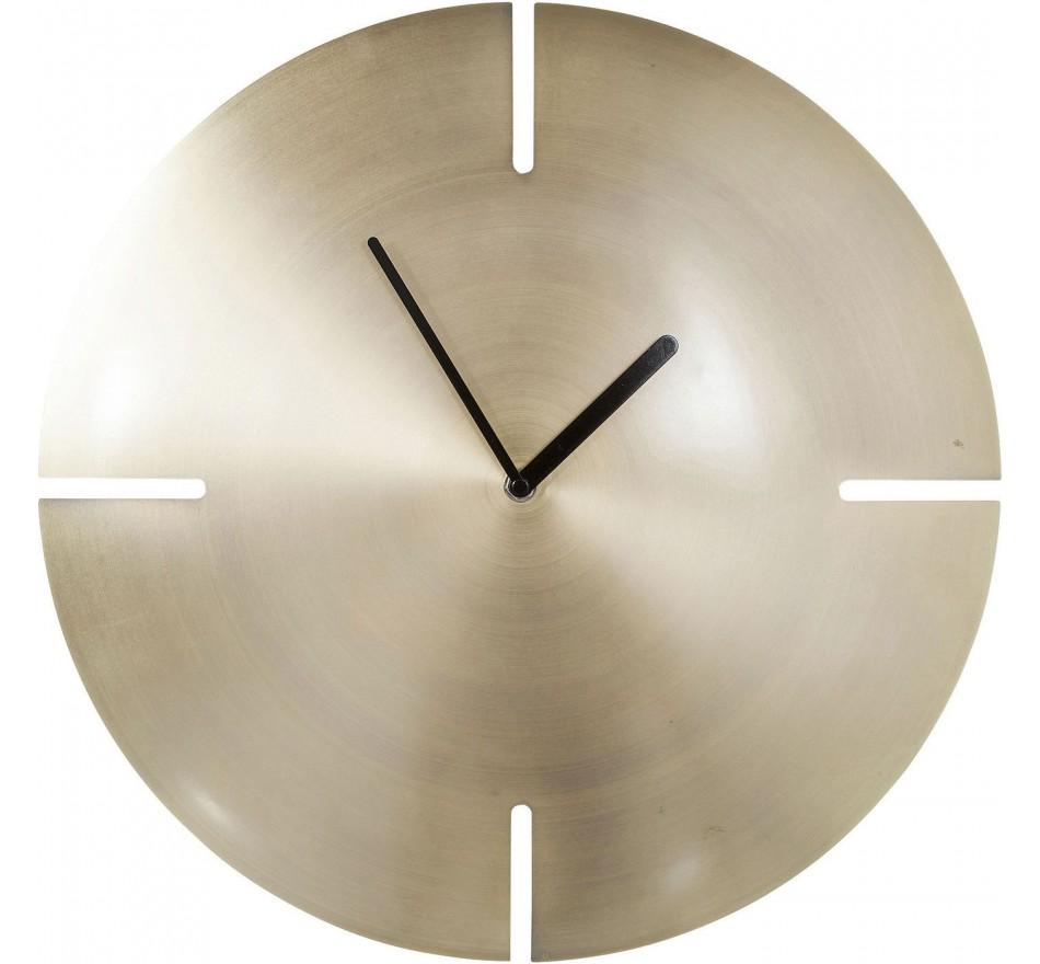 Horloge murale Cut laiton Kare Design