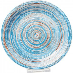Assiette Swirl Blue 27cm 4/set Kare Design