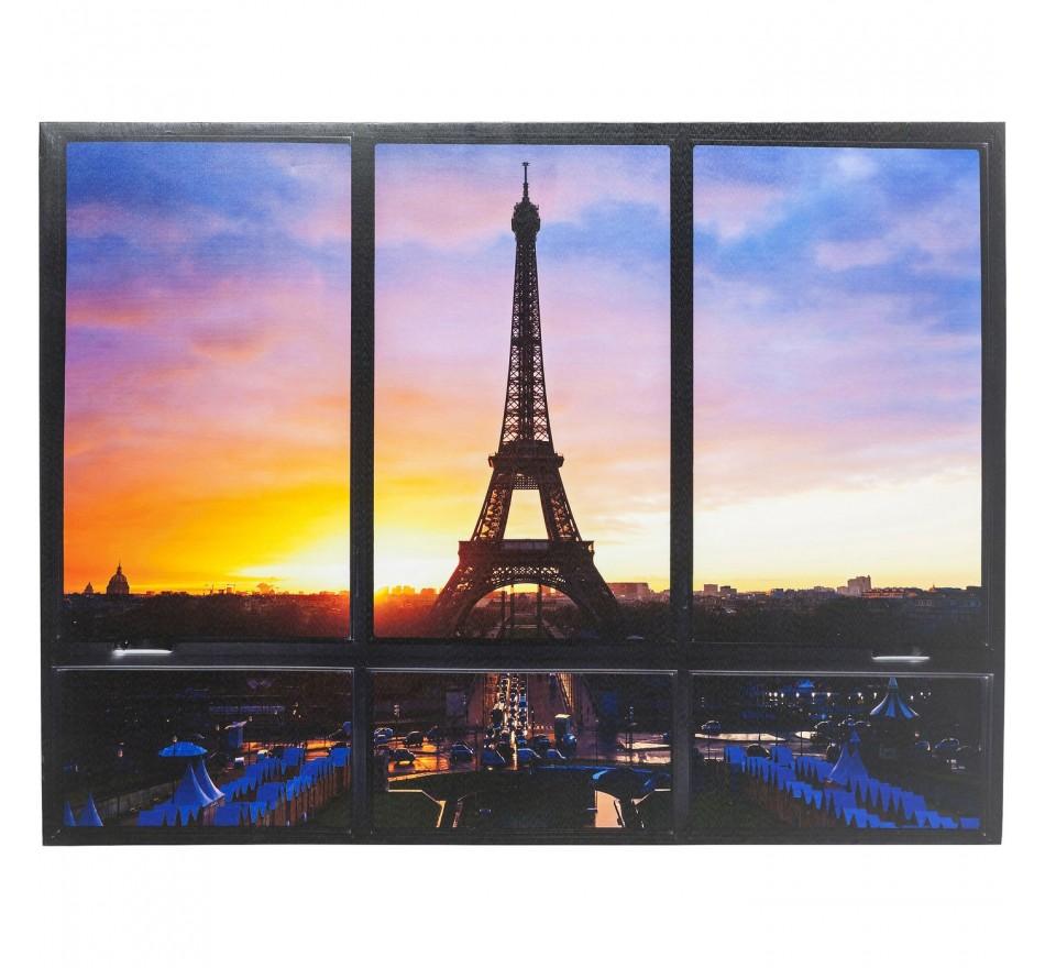 Tableau Window Tour Eiffel 95x113cm Kare Design