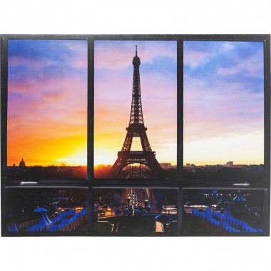 Tableau Window Tour Eiffel 95x113cm Kare Design