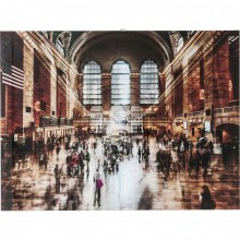 Tableau en verre Grand Central Station 90x120cm Kare Design