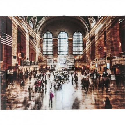 Tableau en verre Grand Central Station 90x120cm Kare Design