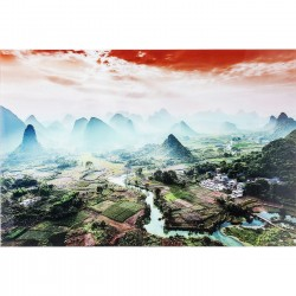 Tableau en verre River To The Mountains 100x150cm Kare Design