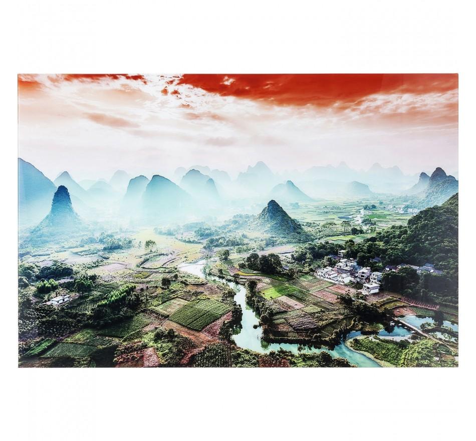 Tableau en verre River To The Mountains 100x150 cm Kare Design