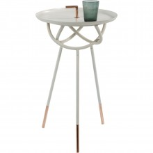 Table d'appoint Atomo blanche 41cm Kare Design