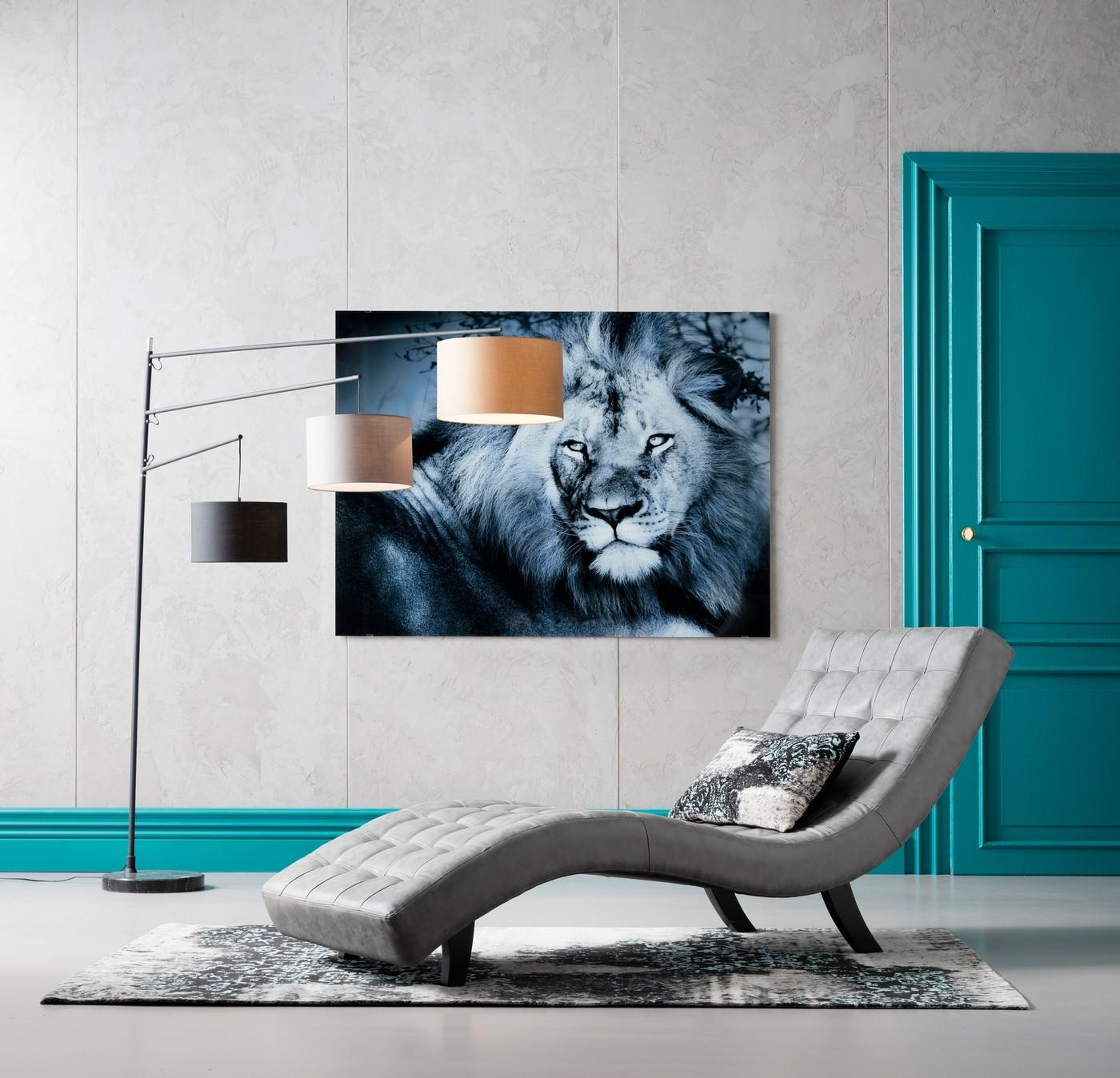 Tableau en verre Lion King 120x160cm Kare Design