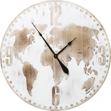 Horloge murale Antique World blanc 80cm Kare Design