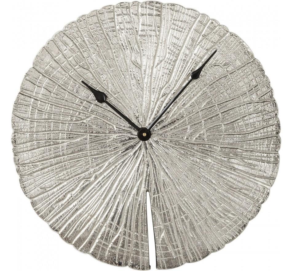 Horloge murale Albero argent Kare Design
