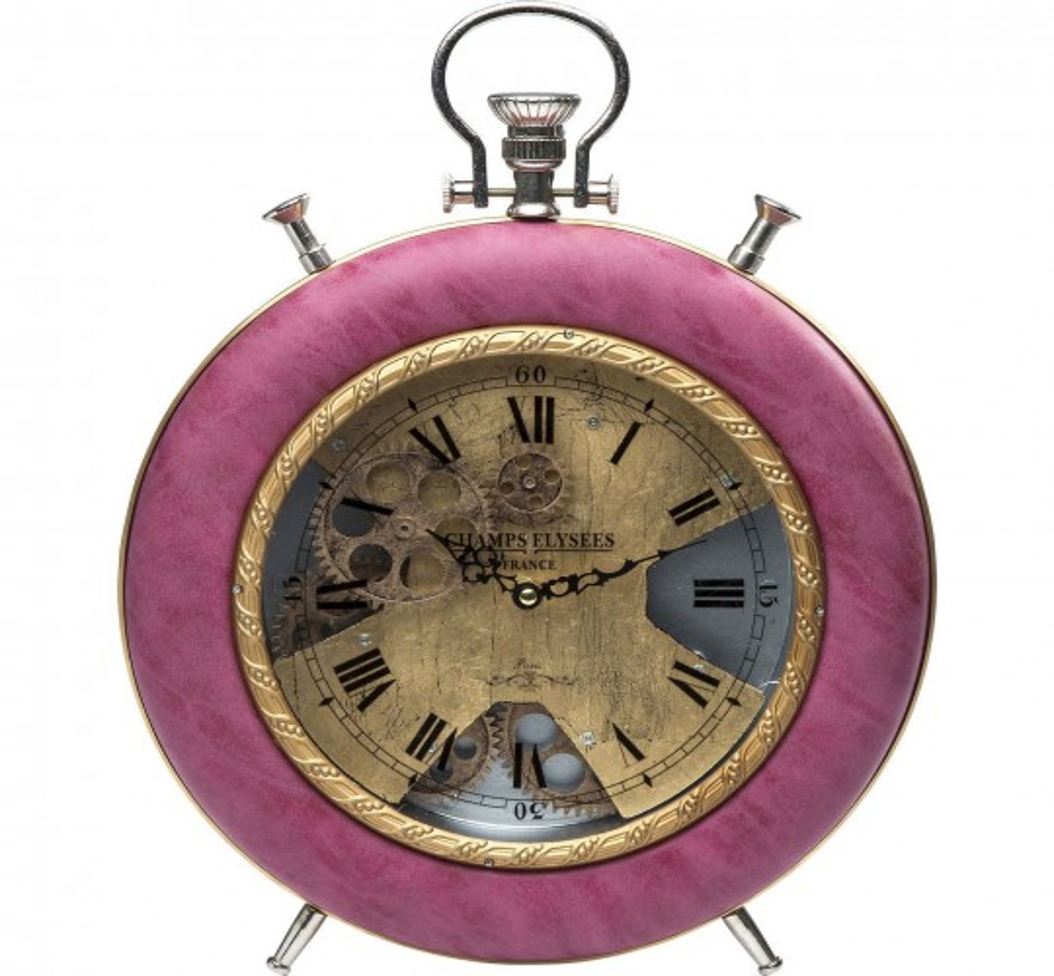 Horloge à poser Velvet Pink Time Kare Design