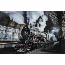 Tableau en verre Steam Train 100x150cm Kare Design