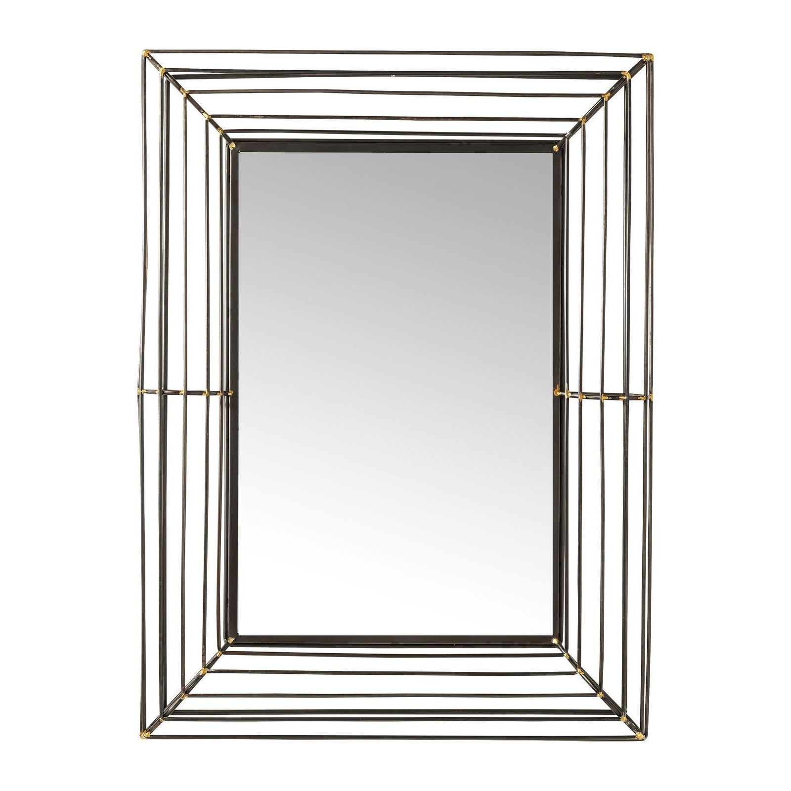 miroir hacienda rectangulaire 95x71cm kare design On miroir design rectangulaire