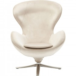 Fauteuil pivotant Lounge Surprise beige Kare Design
