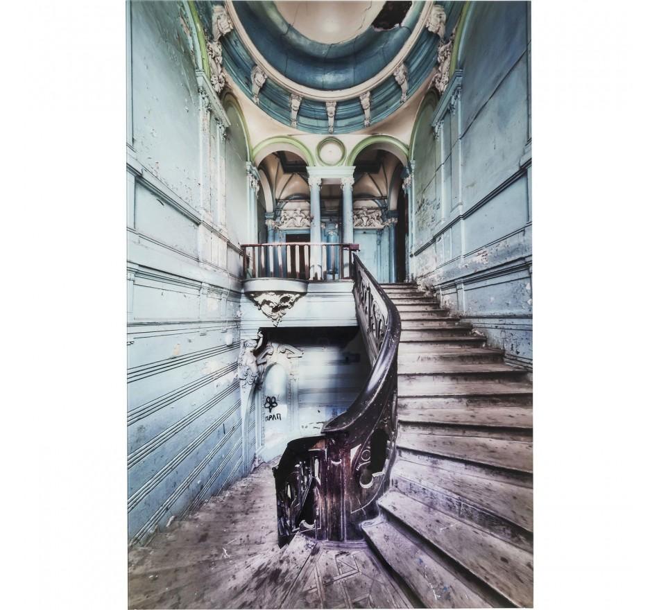 Tableau en verre Old Staircase 120x80cm Kare Design