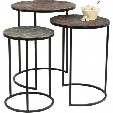 Tables d'appoint Electra set de 3 Kare Design