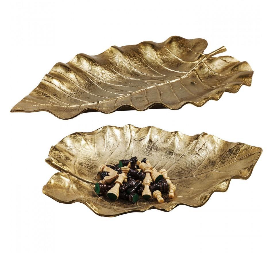 Coupe décorative Autumn Leaf or 2/Set Kare Design