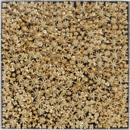 Cadre décoratif Gold Flower 120x120cm Kare Design