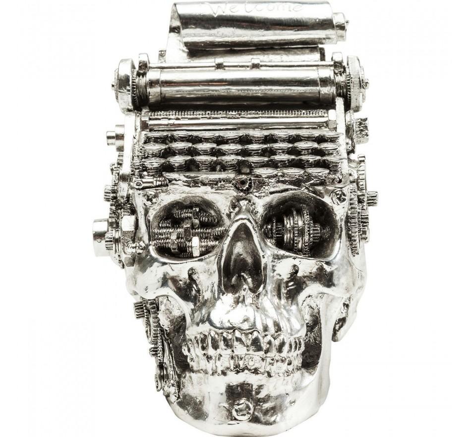 Tirelire Steampunk Typewriter chromé